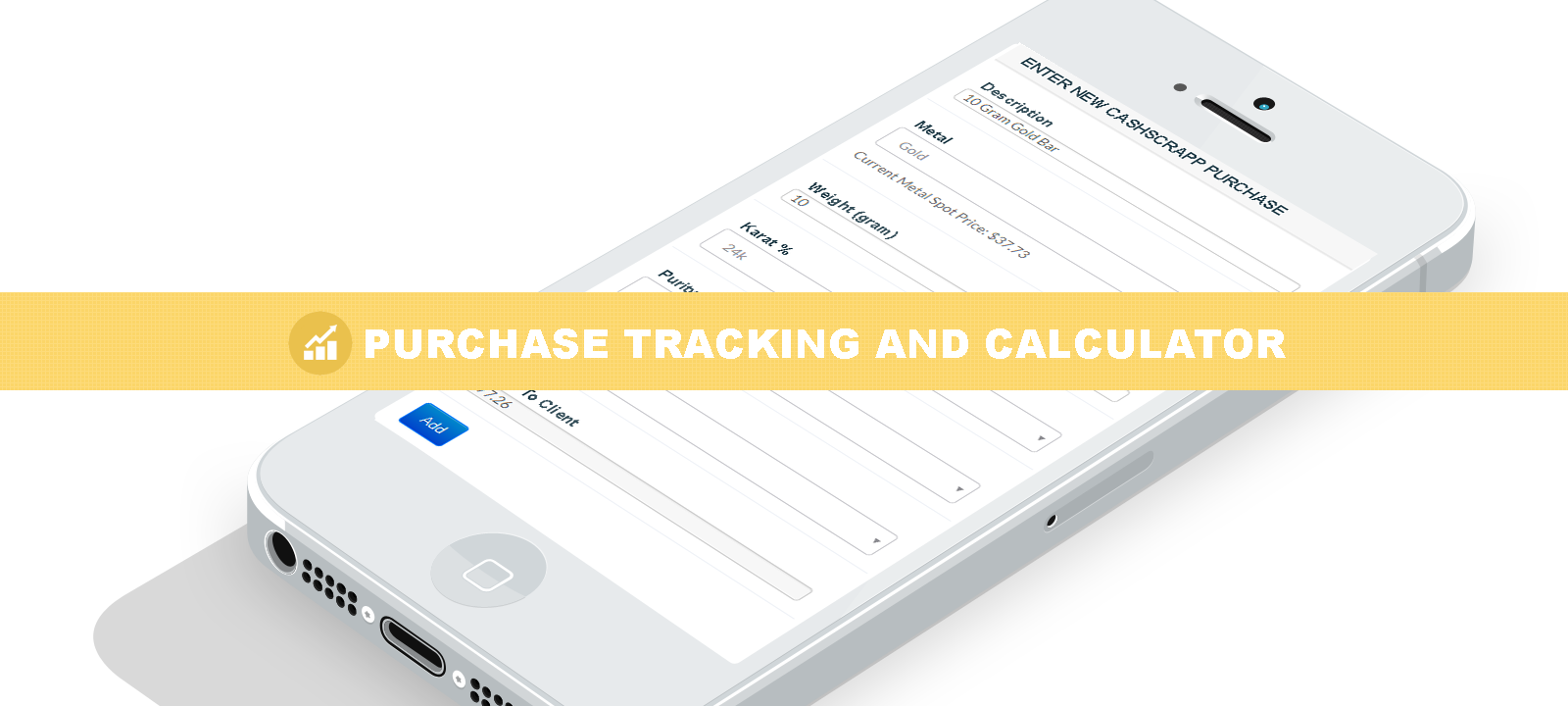 Cash for gold purchase tracking application and calculator.