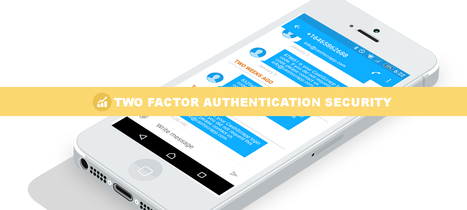 Two factor authentication for the best security in the industry.
